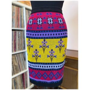 Vintage 80's Organically Grown Knit Pencil Skirt